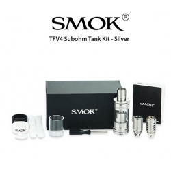 TFV4 Subohm Tank Kit - stainless steel